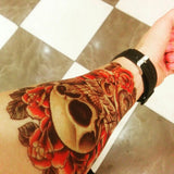 Rose Skull Sticker Tattoo - Eleven Gift