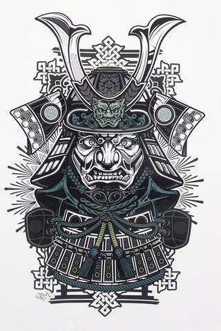 Samurai Sticker Tattoo - Eleven Gift