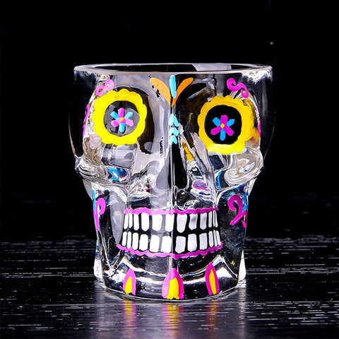 Sugar Skull Wine Glass - Eleven Gift
