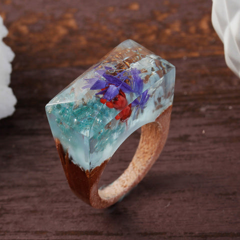 Taketomi - Handcrafted Wood Resin Rings
