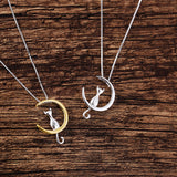 The Cat and The Moon Necklace - Eleven Gift