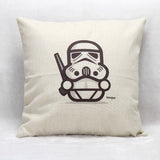 Trooper White Cushion Cover