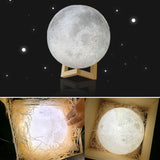 USB 3D Moon Night Light - Eleven Gift
