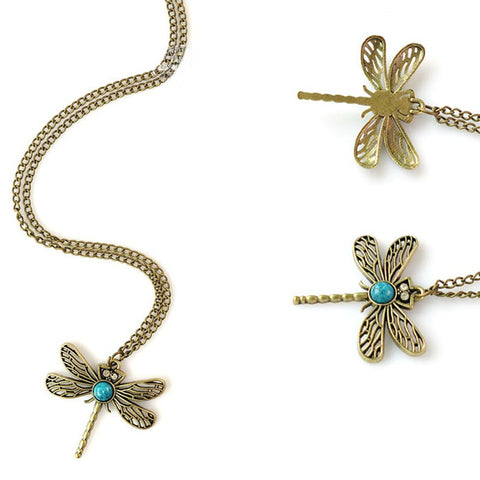 Vintage Dragonfly Necklace - Eleven Gift