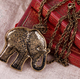 Vintage Elephant Necklace - Eleven Gift