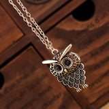 Vintage Simple Owl Necklace - Eleven Gift