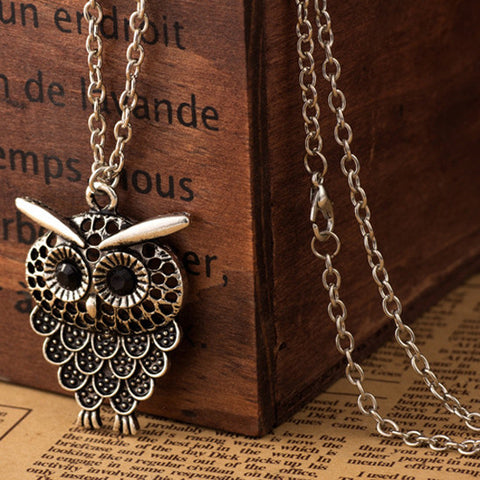 Vintage Simple Owl Necklace
