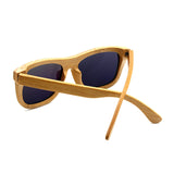 Baverly - Light Bamboo Sunglasses with Sunset Orange Polarized Lens - Eleven Gift