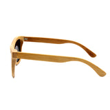 Baverly - Light Bamboo Sunglasses with Dazzle Green Polarized Lens