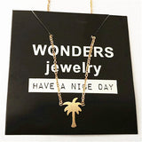 Coconut Tree Charm Necklace