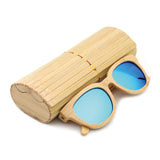 Daytona - Light Bamboo Sunglasses with Oceon Blue Polarized Lens