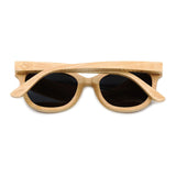 Daytona - Light Bamboo Sunglasses with Oceon Blue Polarized Lens - Eleven Gift