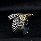Gold Eagle Ring - Eleven Gift