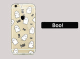 Cute Ghost iPhone Clear Case