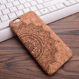 Half Mandala iPhone Wood Case - Eleven Gift