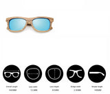 Jupiter - Bamboo & Wood Sunglasses with Oceon Blue Polarized Lens