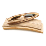 Jupiter - Bamboo & Wood Sunglasses with Sunset Orange Polarized Lens - Eleven Gift