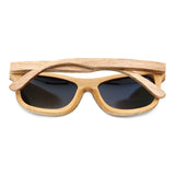 Jupiter - Bamboo & Wood Sunglasses with Sky Blue Polarized Lens - Eleven Gift