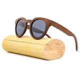 Malibu - Dark Bamboo Sunglasses with Shadow Gray Polarized Lens - Eleven Gift