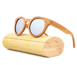 Malibu - Light Bamboo Sunglasses with Silver Polarized Lens - Eleven Gift