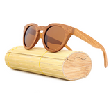 Malibu - Light Bamboo Sunglasses with Brown Tea Polarized Lens - Eleven Gift