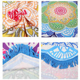 Limited Edition Lotus Mandala Tapestry - Design 1 With Pom Pom - Eleven Gift