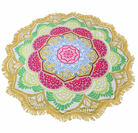 Limited Edition Lotus Mandala Tapestry - Design 3