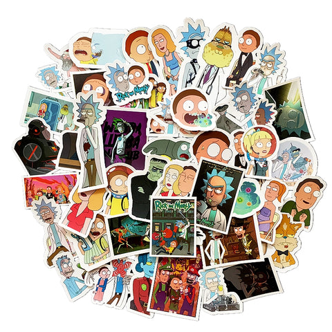 New Design Rick and Morty Waterproof Sticker - 49 Pieces!