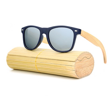 Pacific - Bamboo & PC Sunglasses with Silver Polarized Lens - Eleven Gift