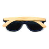 Pacific - Bamboo & PC Sunglasses with Sky Blue Polarized Lens
