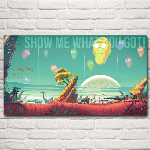 Rick and Morty Show Me What You Got Poster - Eleven Gift