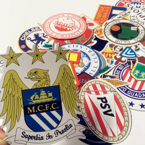 50 Pieces Football Club Stickers