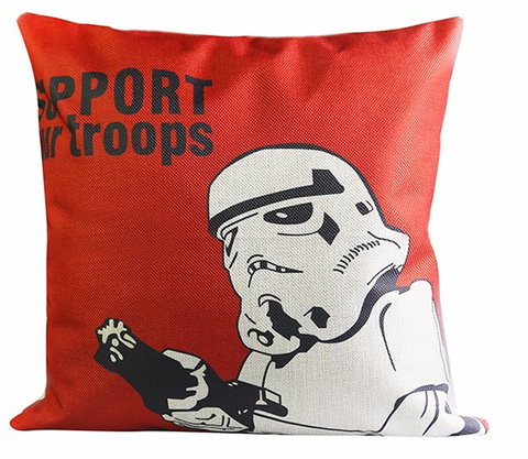 Support Our Troops - Star Wars Cushion Cover - Eleven Gift