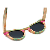 Venice - Rainbow Bamboo Sunglasses with Brown Tea Polarized Lens - Eleven Gift