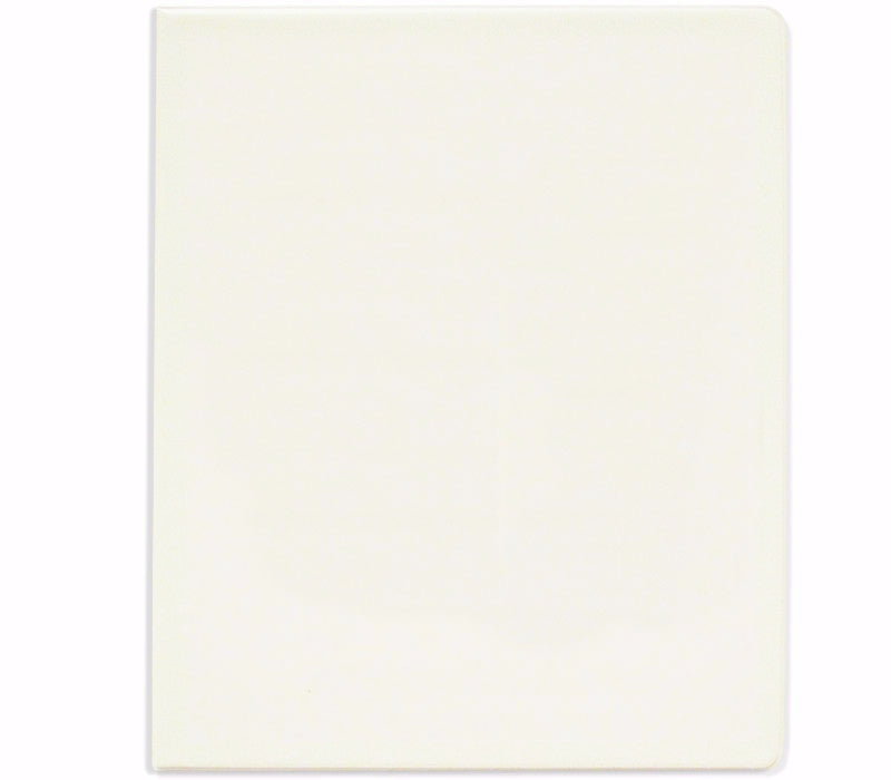 White Simulated Leather Binder - Forbes Products