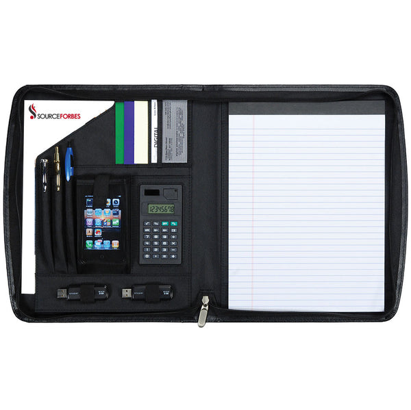 Berkshire Zippered Smart Padfolio - Forbes Products