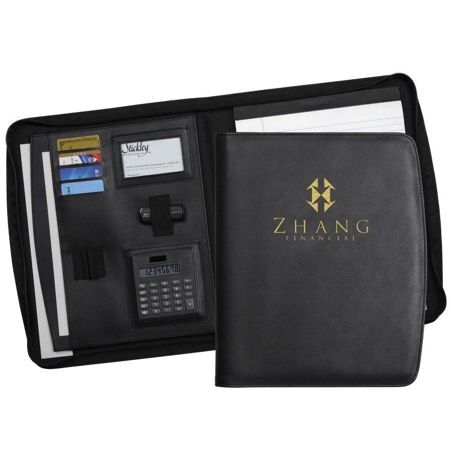 Chelsea Zippered Padfolio - Forbes Custom Products