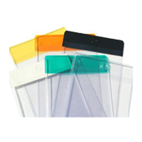 Crystal Clear Vinyl Hang Tag Holders - Forbes Custom Products