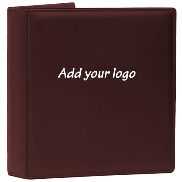Top-Stitched Leather Like Binder (10 pack)