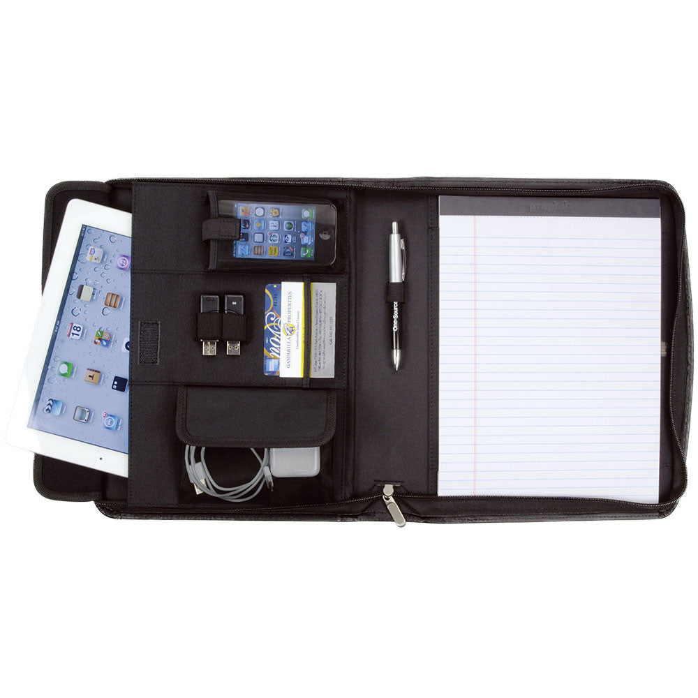 Cosmopolitan Leather Zippered e-Padfolio - Forbes Products