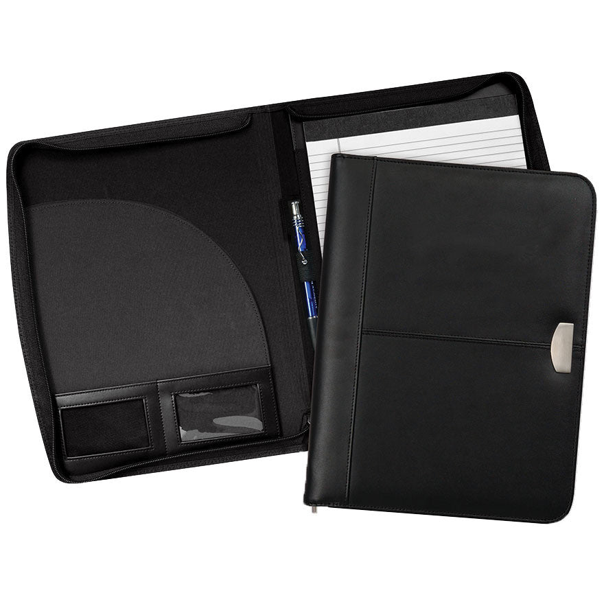 Cosmopolitan Leather Zippered Padfolio - Forbes Products