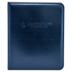 Zippered Topstitched Leather Like Binder - Forbes Custom Products