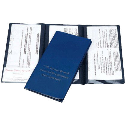Multi Pocket Policy or Document Wallet - Forbes Custom Products