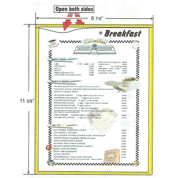 Washable Menu Covers - Forbes Custom Products