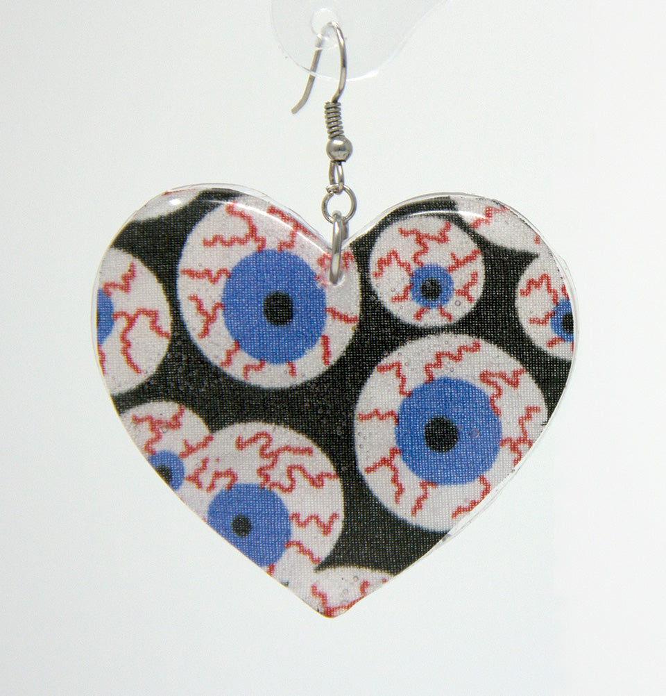Eyeball Heart Earrings