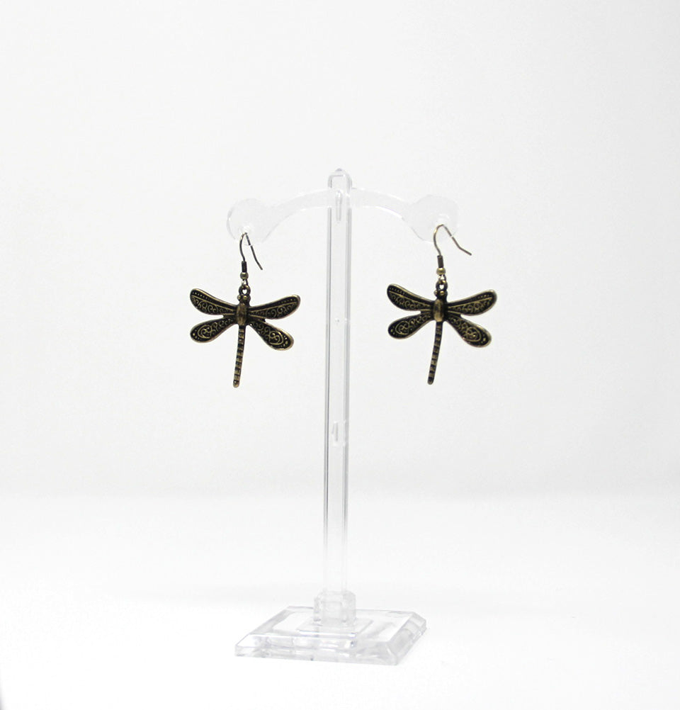 Steampunk Firefly Drop Earrings
