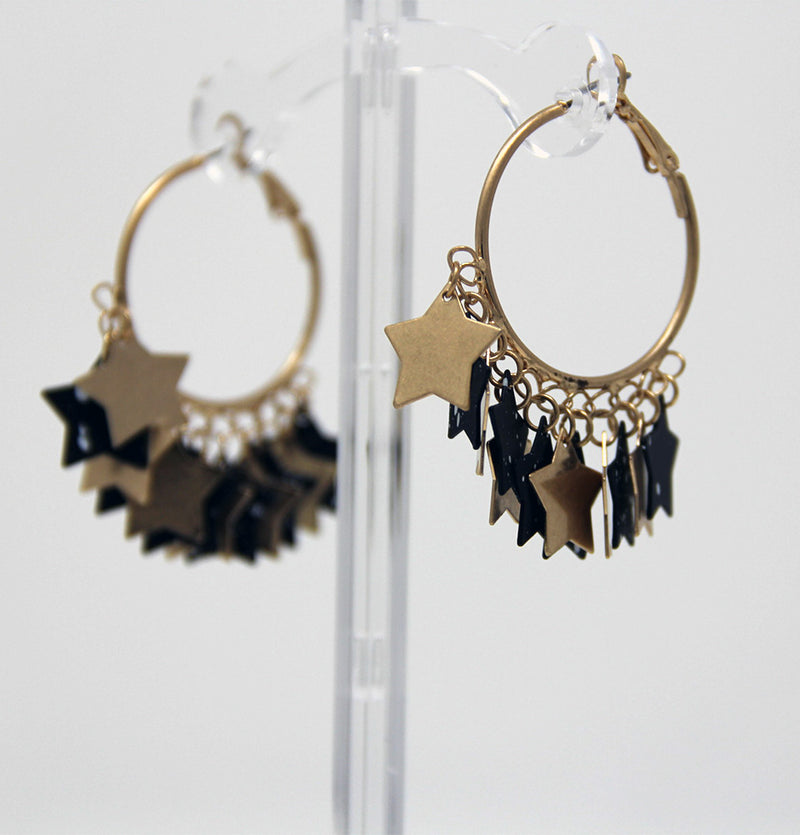 New Wave Star Hoop Earrings