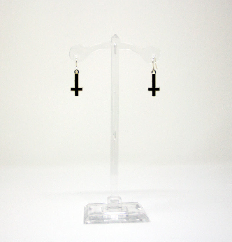 Small Inverted Cross Earrings