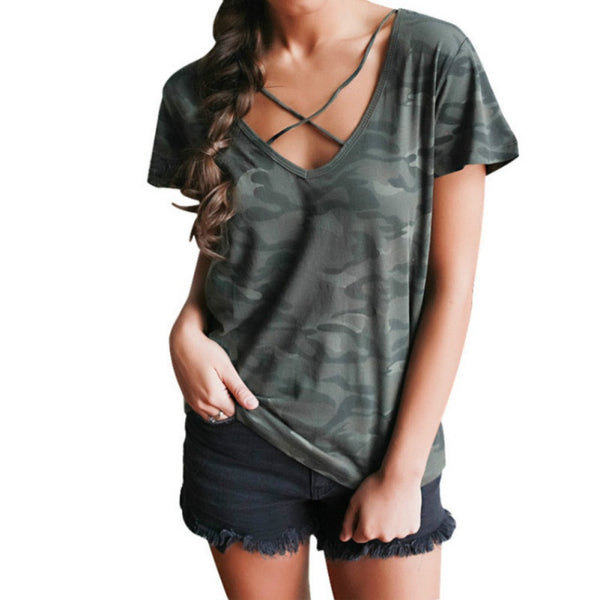 Camouflage Casual Loose T Shirt