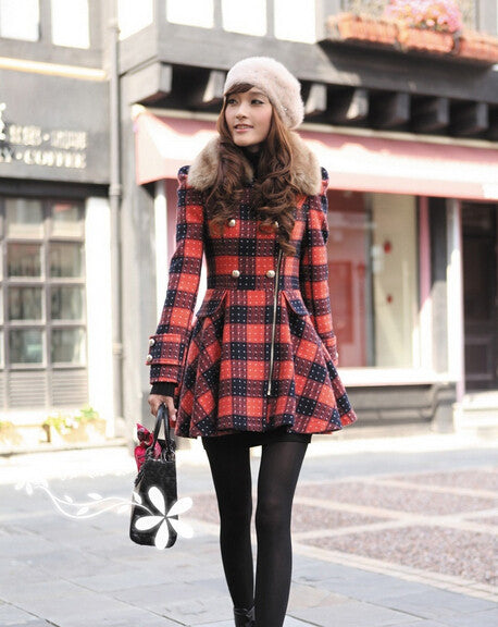 Fall 2017 Women's Plaid Wool Jacket